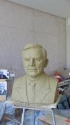 Gál János szobrának készítése